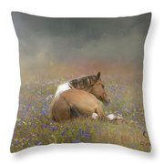 Stopping To Smell The Flowers Throw Pillow