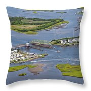 Stopping Traffic Topsail Island Throw Pillow