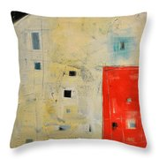 Storage Shed Throw Pillow