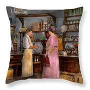 Store - In A General Store 1917 Throw Pillow