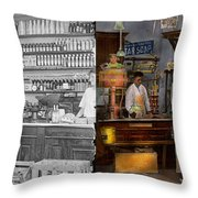 Store - In A General Store 1917 Side By Side Throw Pillow