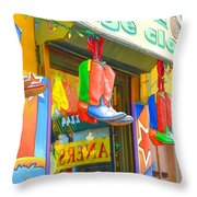 Store In New York City 1 Throw Pillow