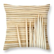 Stored Wooden Toothpicks Throw Pillow