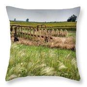 Storm Across The Prairie Throw Pillow