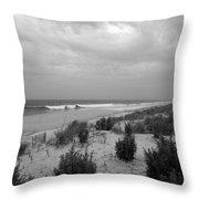 Storm Approaching - Jersey Shore Throw Pillow by Angie Tirado