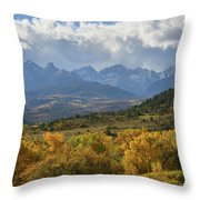 Storm Approaching County Road 7 Throw Pillow