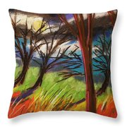 Storm Approaching Fast Throw Pillow