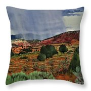 Storm Approaching The Ridge Throw Pillow