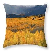 Storm At Ohio Pass During Autumn Throw Pillow