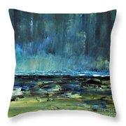 Storm At Sea II Throw Pillow
