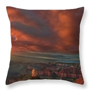 Storm At Sunrise Point Imperial Grand Canyon National Park Arizona Throw Pillow