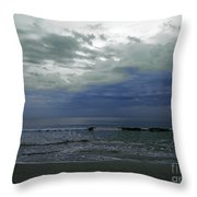 Storm At The Beach Throw Pillow