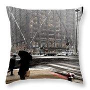Storm At The Hancock Throw Pillow