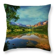 Storm At Trout Lake Throw Pillow