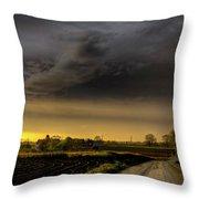 Storm Before Sunset Throw Pillow
