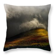Storm Brewing Over Hawkshead Throw Pillow