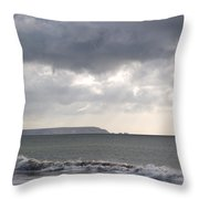 Storm Brewing Over The I O W Throw Pillow