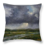 Storm Brewing Over The Refuge Throw Pillow