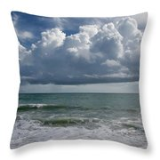 Storm Clouds Above The Atlantic Ocean Throw Pillow