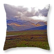Storm Clouds Ahead In Connemara Throw Pillow