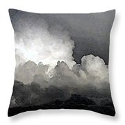 Storm Clouds Are Brewin' Throw Pillow