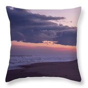 Storm Clouds At Dusk Seaside Nj Throw Pillow