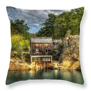 Storm Clouds Cross The Quarry At High Noon Throw Pillow