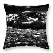Storm Clouds Gathering In The Rockies Throw Pillow