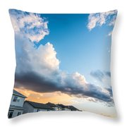 Storm Clouds In The Sunset Throw Pillow by Adnan Bhatti