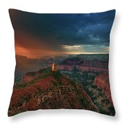 Storm Clouds North Rim Grand Canyon Arizona Throw Pillow by Dave Welling