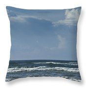 Storm Clouds On The Horizon Ocean Isle North Carolina Throw Pillow