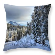 Storm Clouds Over Bow Valley Parkway Throw Pillow