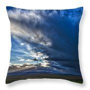 Storm Clouds Over Farmland #2 - Iceland Throw Pillow