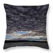Storm Clouds Over Long Lake Throw Pillow