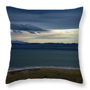 Storm Clouds Over Mono Lake Throw Pillow