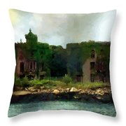 Storm Clouds Over Old New York Throw Pillow