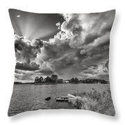 Storm Clouds Over Oriental Throw Pillow