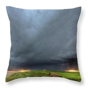 Storm Clouds Over Saskatchewan Throw Pillow
