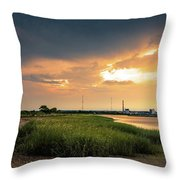 Storm Clouds Over Stratford Throw Pillow