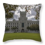 Storm Clouds Over The Citadel Throw Pillow