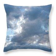 Storm Clouds Passing Throw Pillow