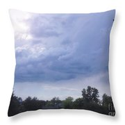 Storm Clouds Passing Through Throw Pillow