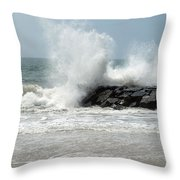 The Ocean's Strength Throw Pillow