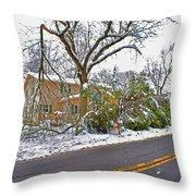 Storm Damage 1  Throw Pillow