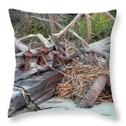 Storm Debris Throw Pillow