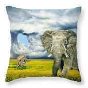 Storm Field Throw Pillow