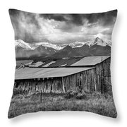 Storm In B And W Throw Pillow