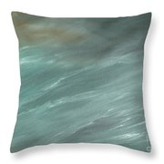 Storm In Deep Ocean Throw Pillow
