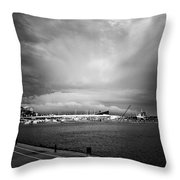 Storm In The City Throw Pillow