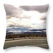 Storm In The Desert Throw Pillow
